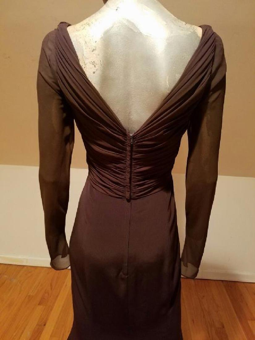 Vtg Iconic Wayne Clark retro gown with train - 9