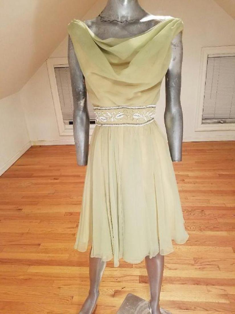 Vtg Miss Elliette of California 1950's chiffon cocktail