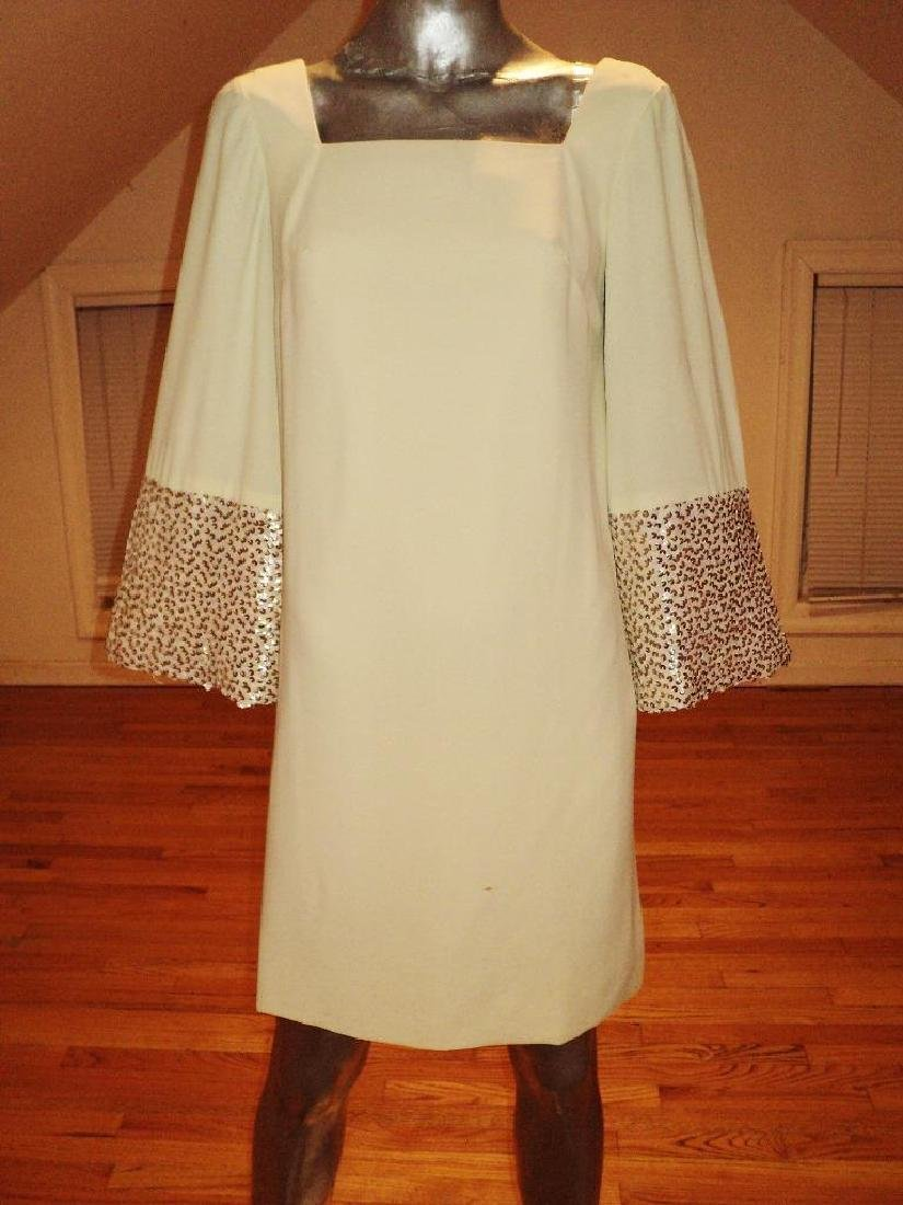 Vintage 1960's mod trapeze dress heavy embellished