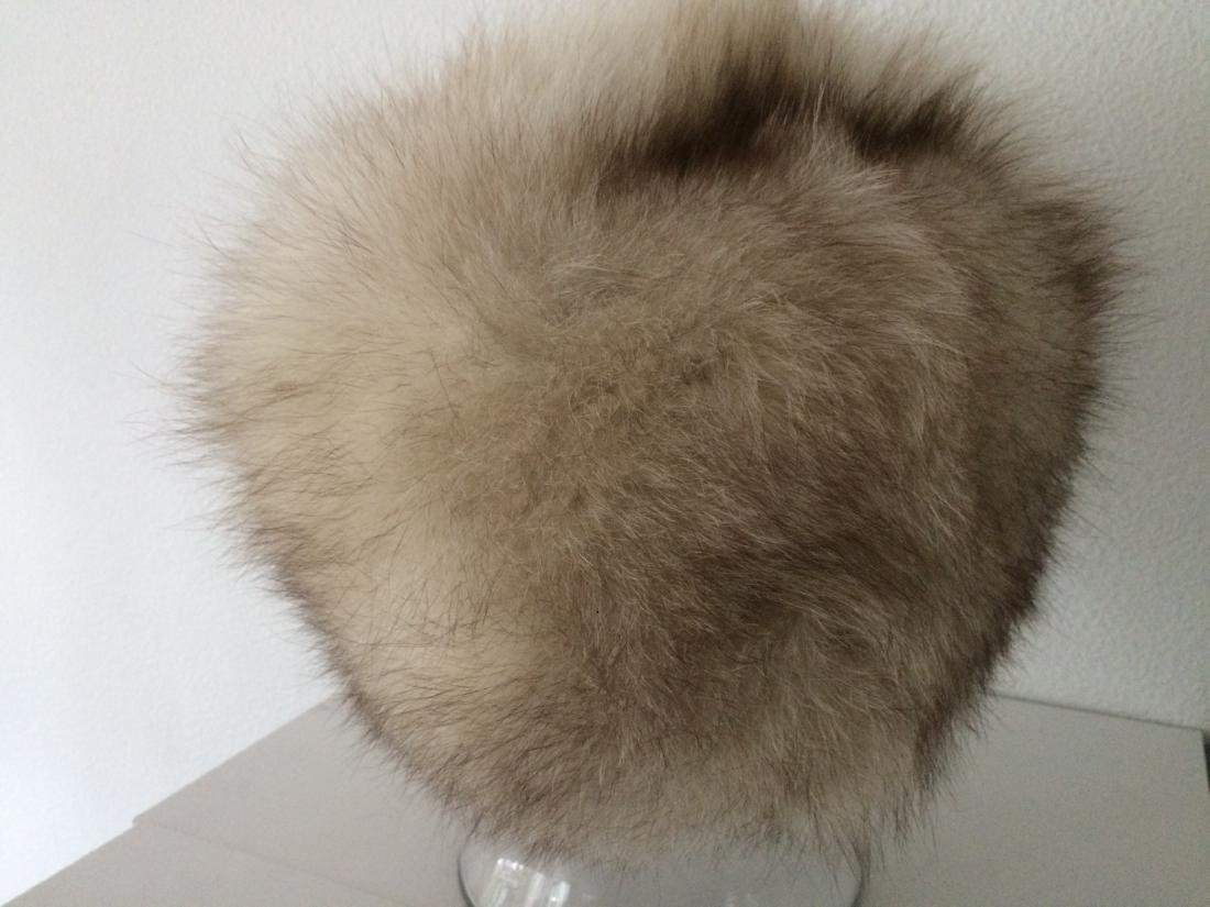 Vintage Russian fox fur hat