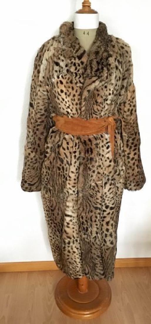 Haute couture- Exclusive-long fur coat - Size 8 (USA)