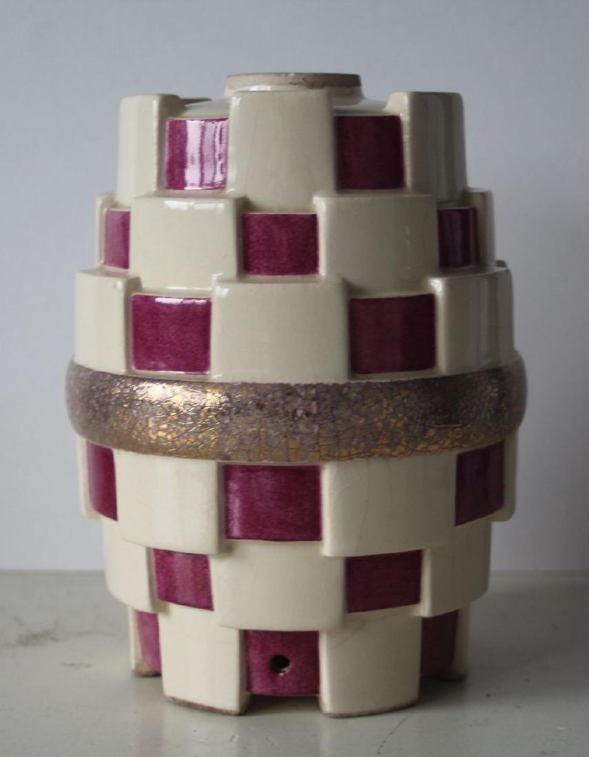 French art deco vase - kubism