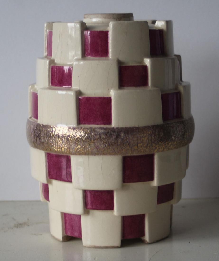 French art deco vase - kubism - 2