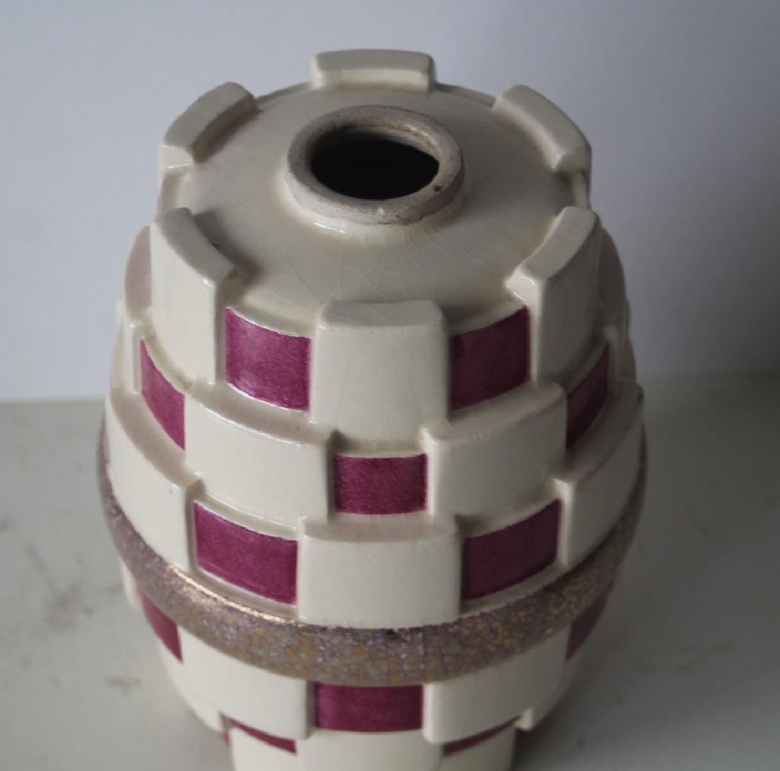 French art deco vase - kubism - 3