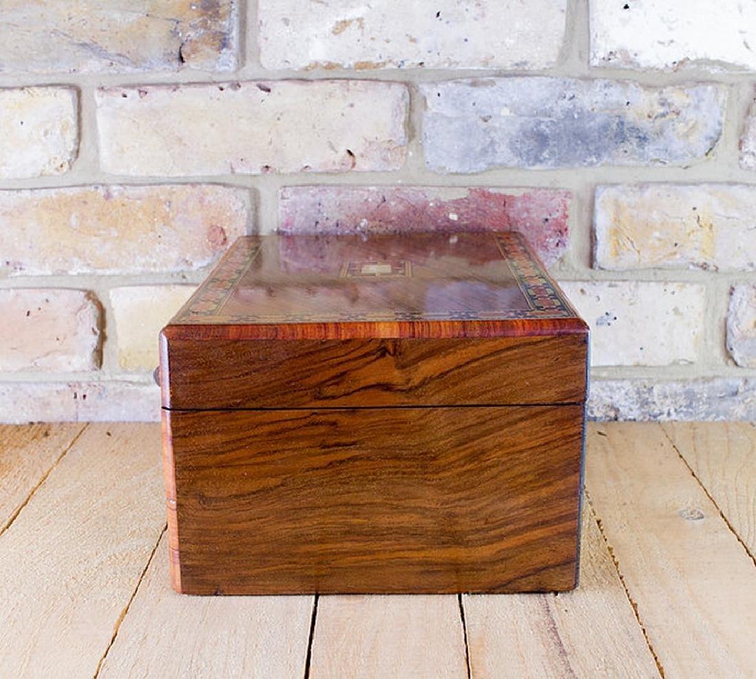 Figured Walnut Table Box c.1880 - 2