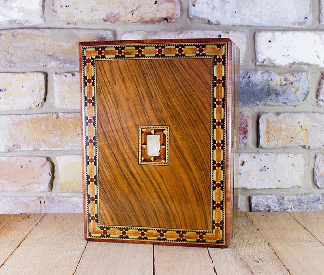Figured Walnut Table Box c.1880 - 6