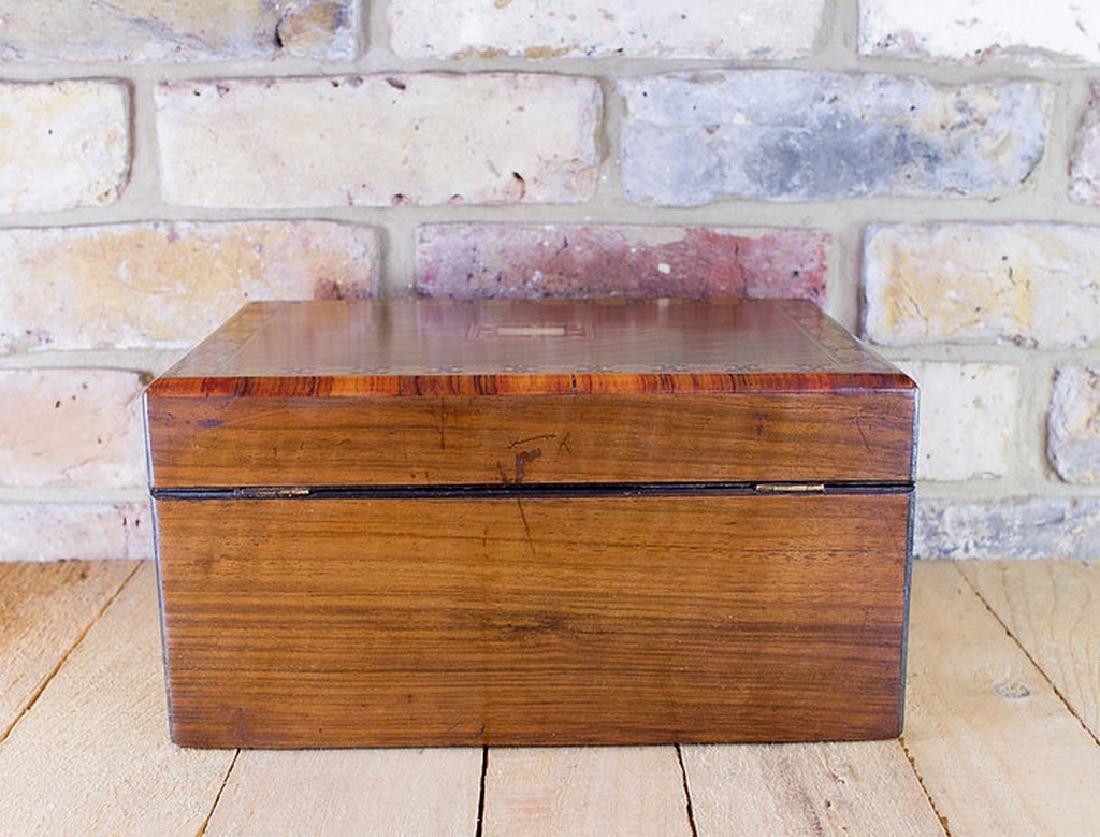 Figured Walnut Table Box c.1880 - 8