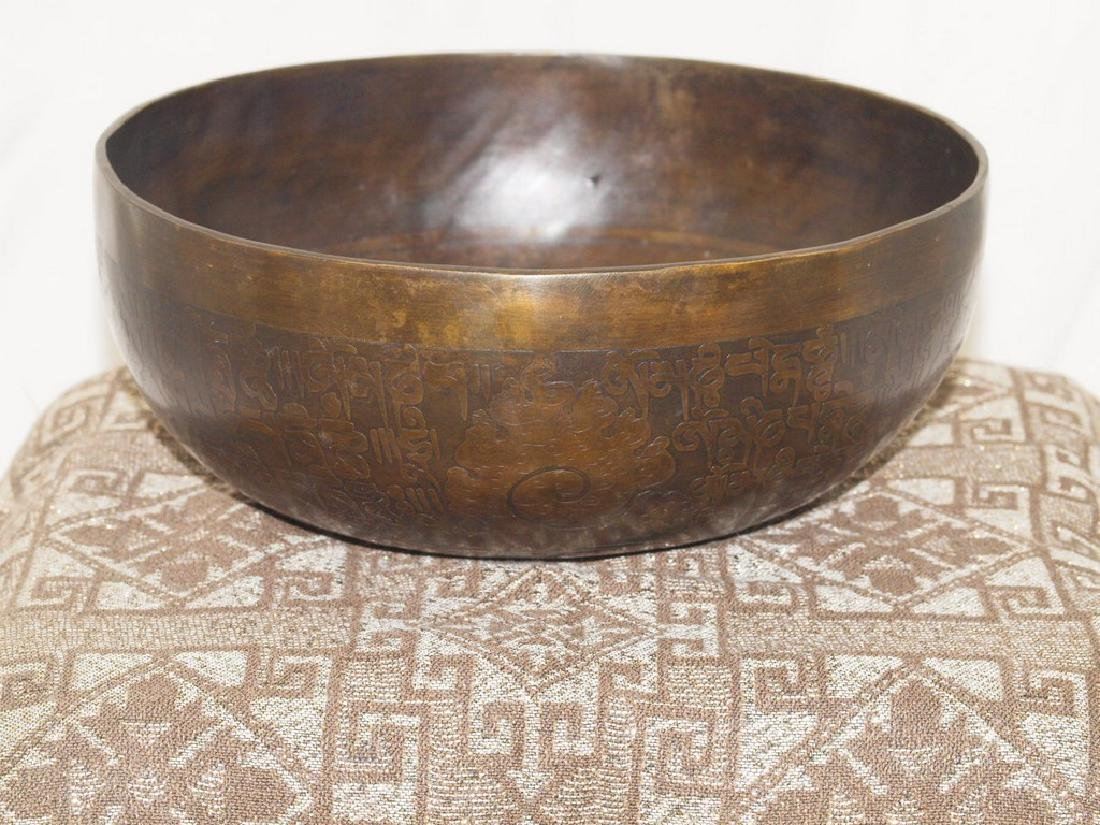 Ancient Tibetan Singing Bowl Hammered Nepal or Tibet - 3