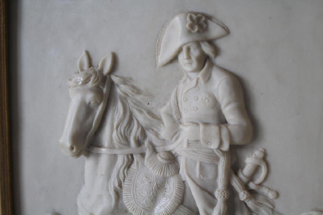 Alabaster Plaque of a French army man on his horse - 2