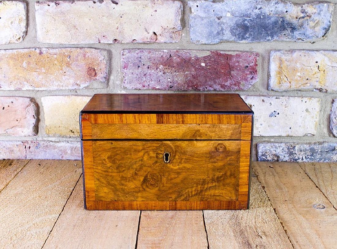 Burr Walnut Tea Caddy c.1860 - 3