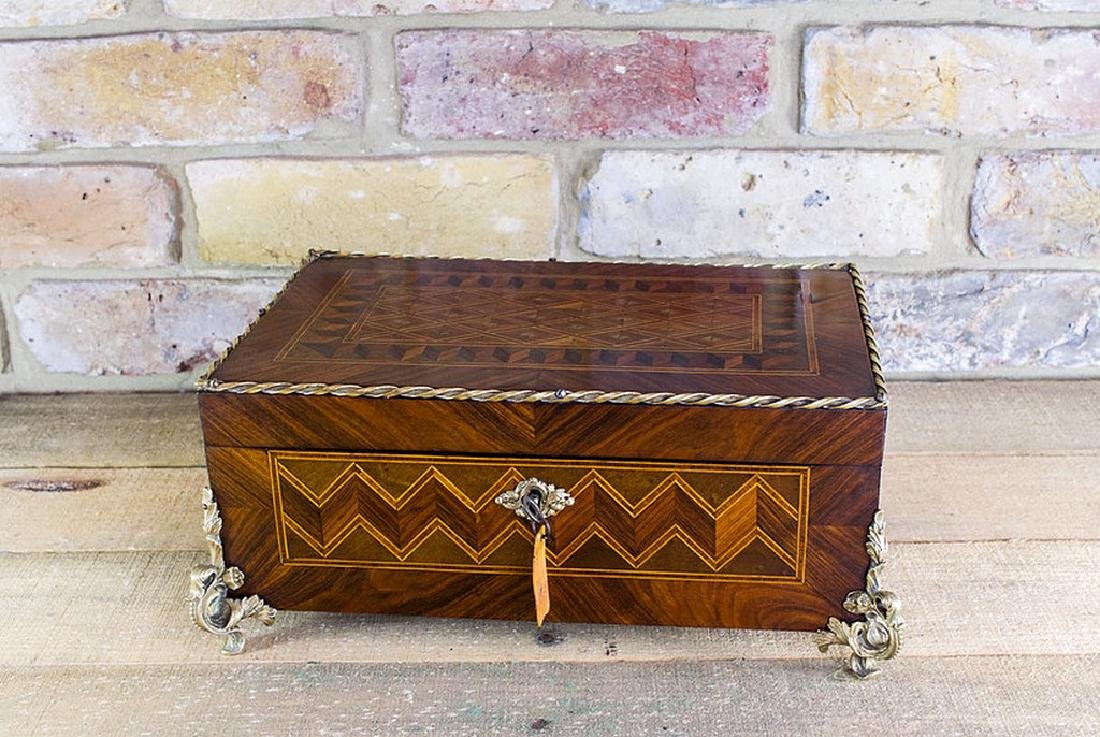 Decorative Kingwood French Table Box c.1860
