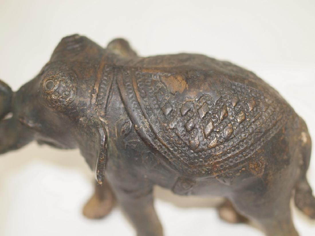 Wonderful 19th century Indian Bronze elephant - 10