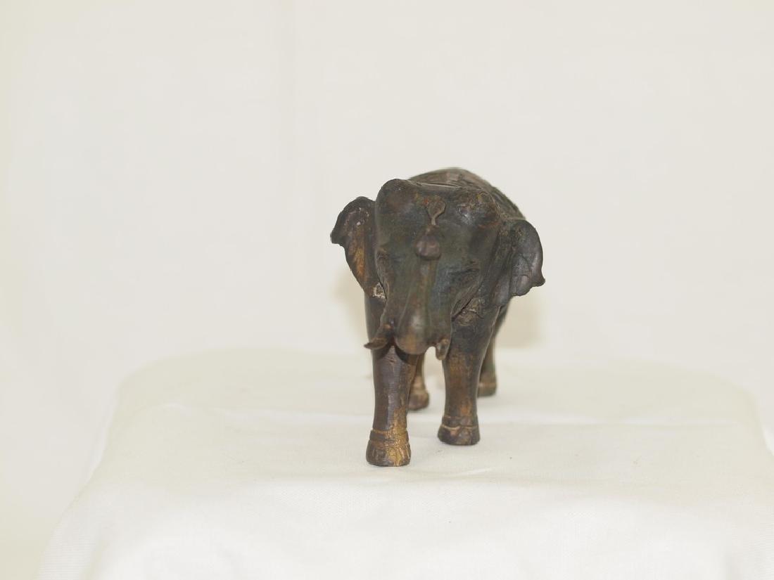 Wonderful 19th century Indian Bronze elephant - 2