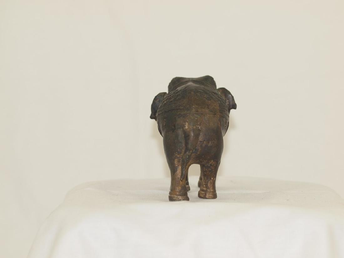 Wonderful 19th century Indian Bronze elephant - 6