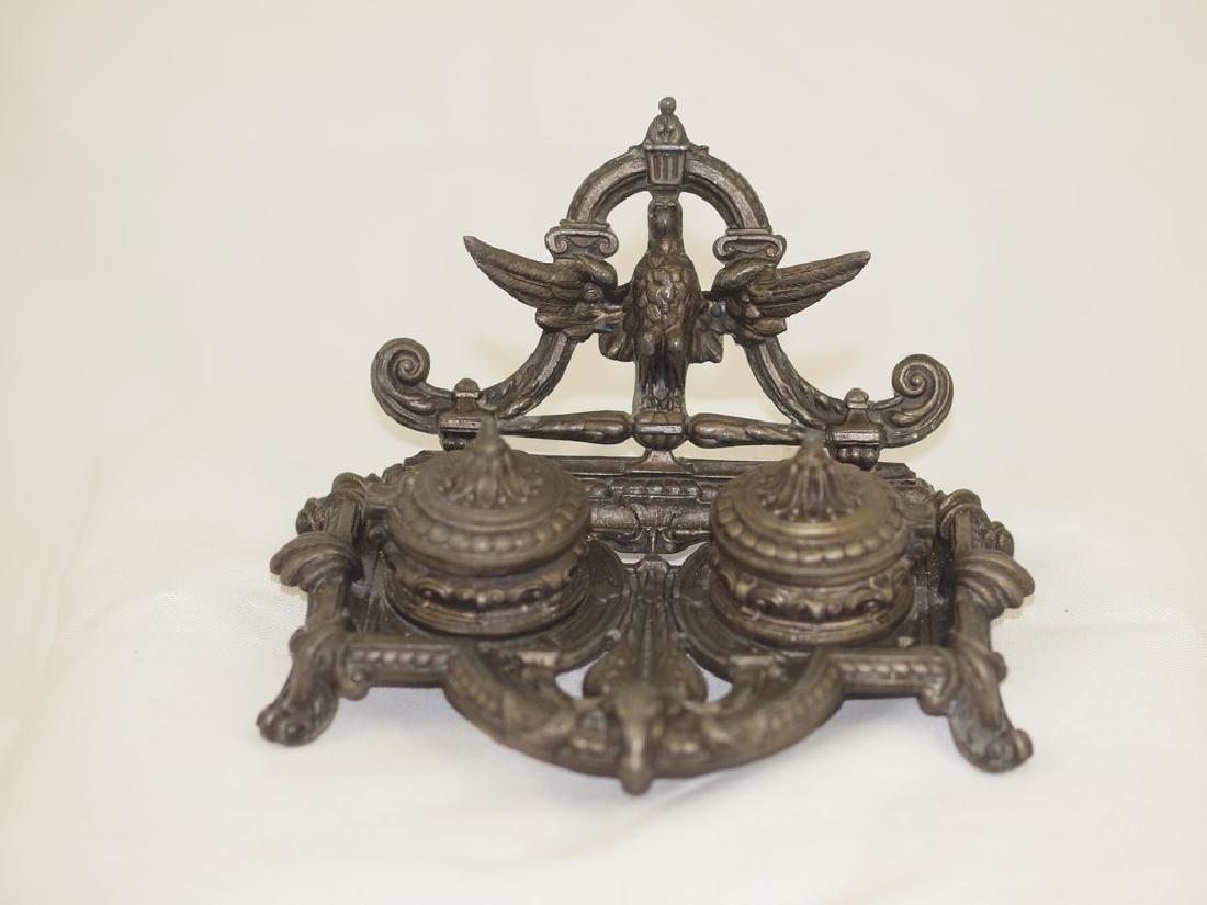 Amazing antique inkwell