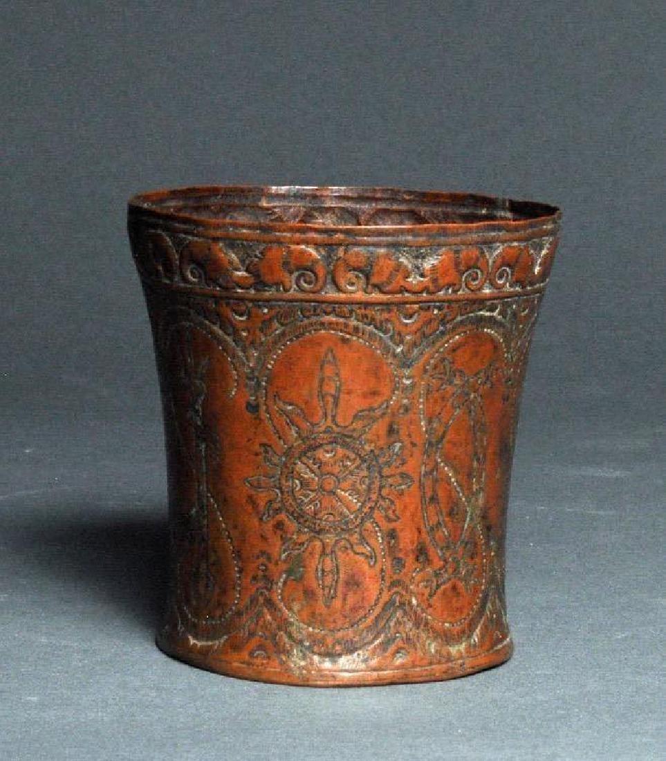 Tibet, Copper Ceremonial cup L. 18th/19th century