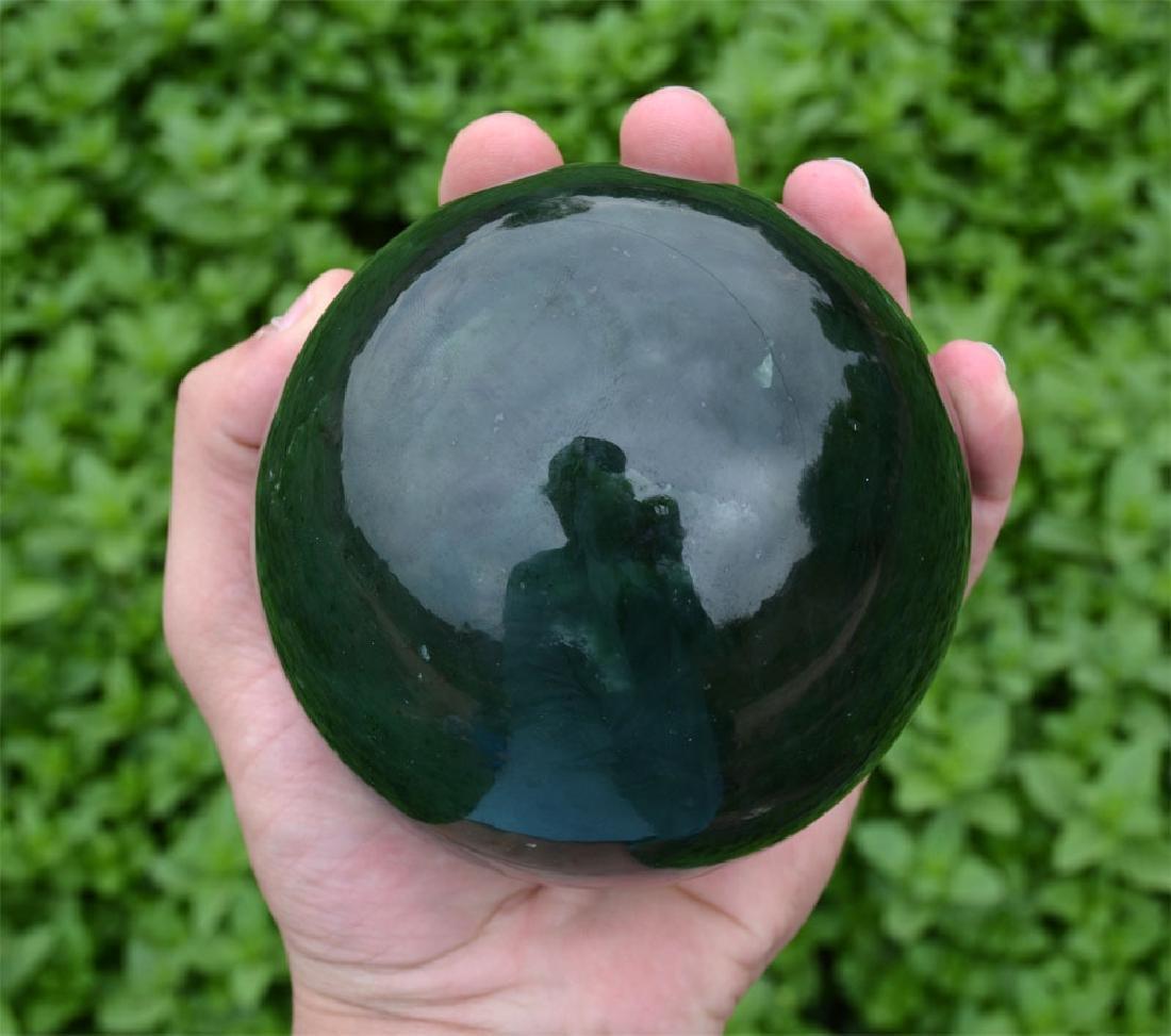 1800 Gram Dark Green Nephrite Jade Sphere~Afghanistan - 10