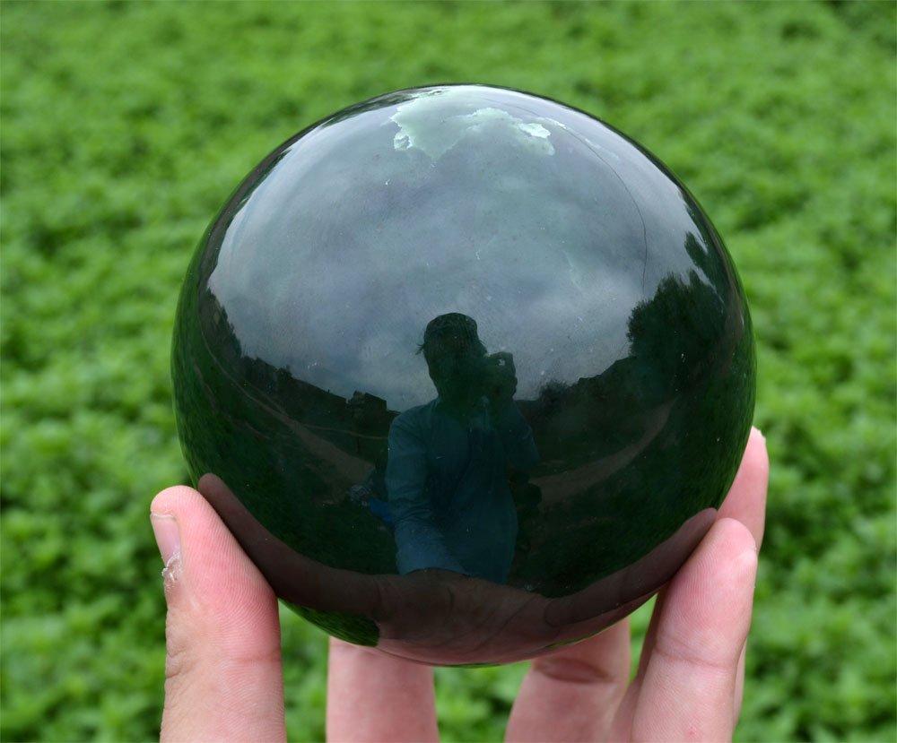 1800 Gram Dark Green Nephrite Jade Sphere~Afghanistan