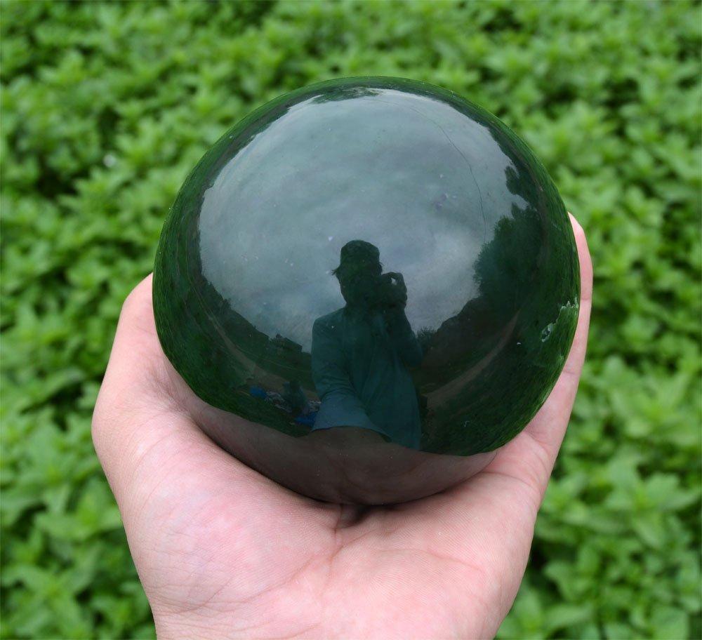 1800 Gram Dark Green Nephrite Jade Sphere~Afghanistan - 2