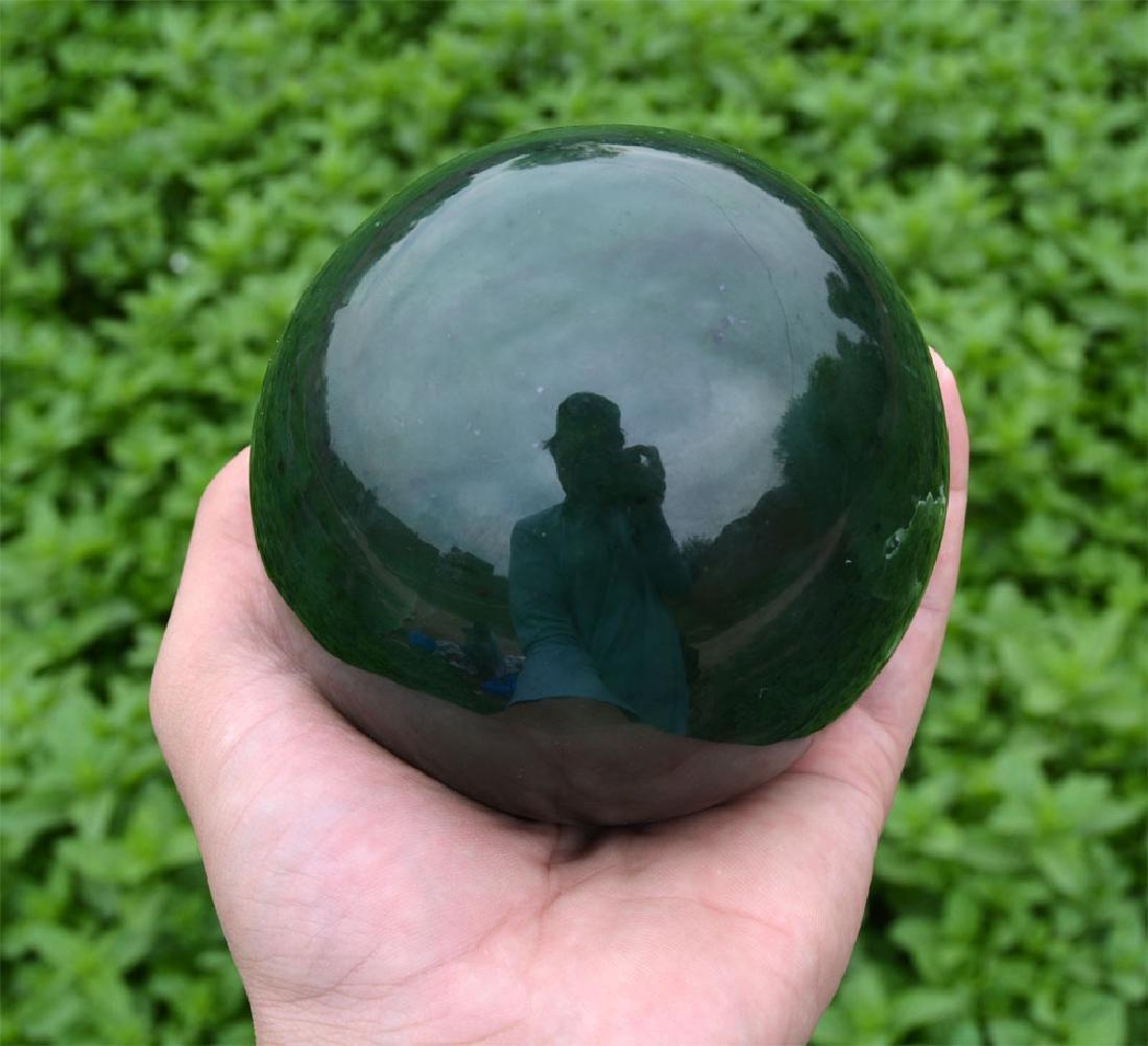 1800 Gram Dark Green Nephrite Jade Sphere~Afghanistan - 5