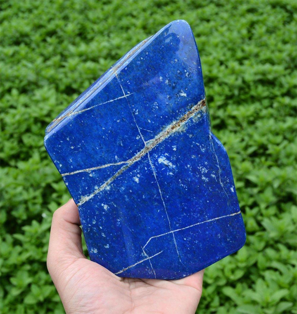 Bright Blue Lapis Lazuli Tumble~Afghanistan - 2
