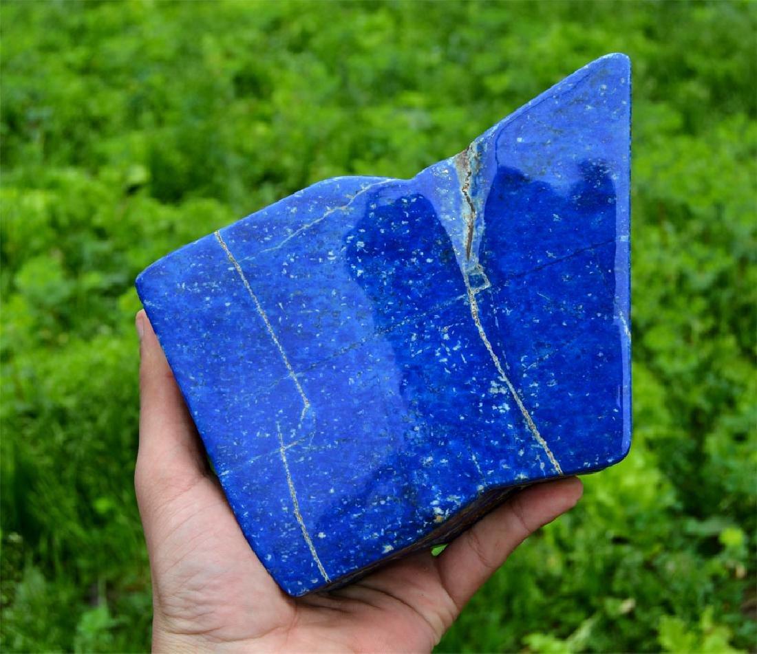 Bright Blue Lapis Lazuli Tumble~Afghanistan - 6