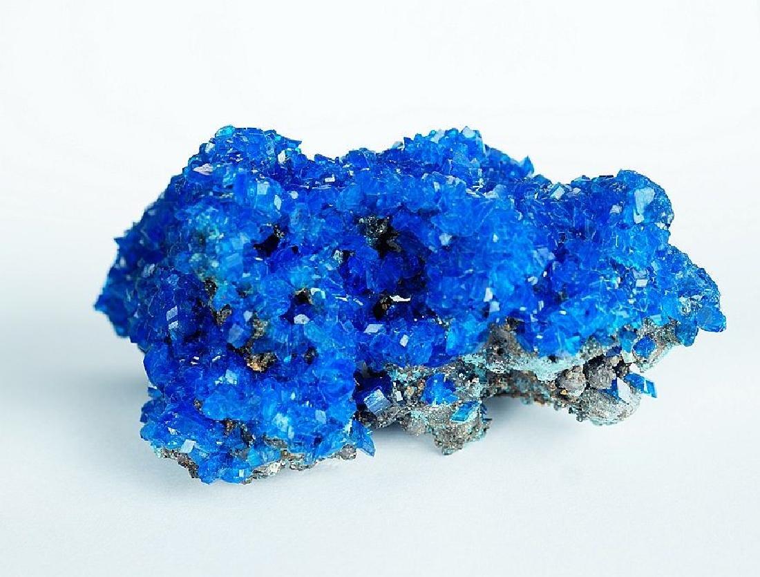 Chalcanthite Big Electric Blue cluster - lab grown - 4