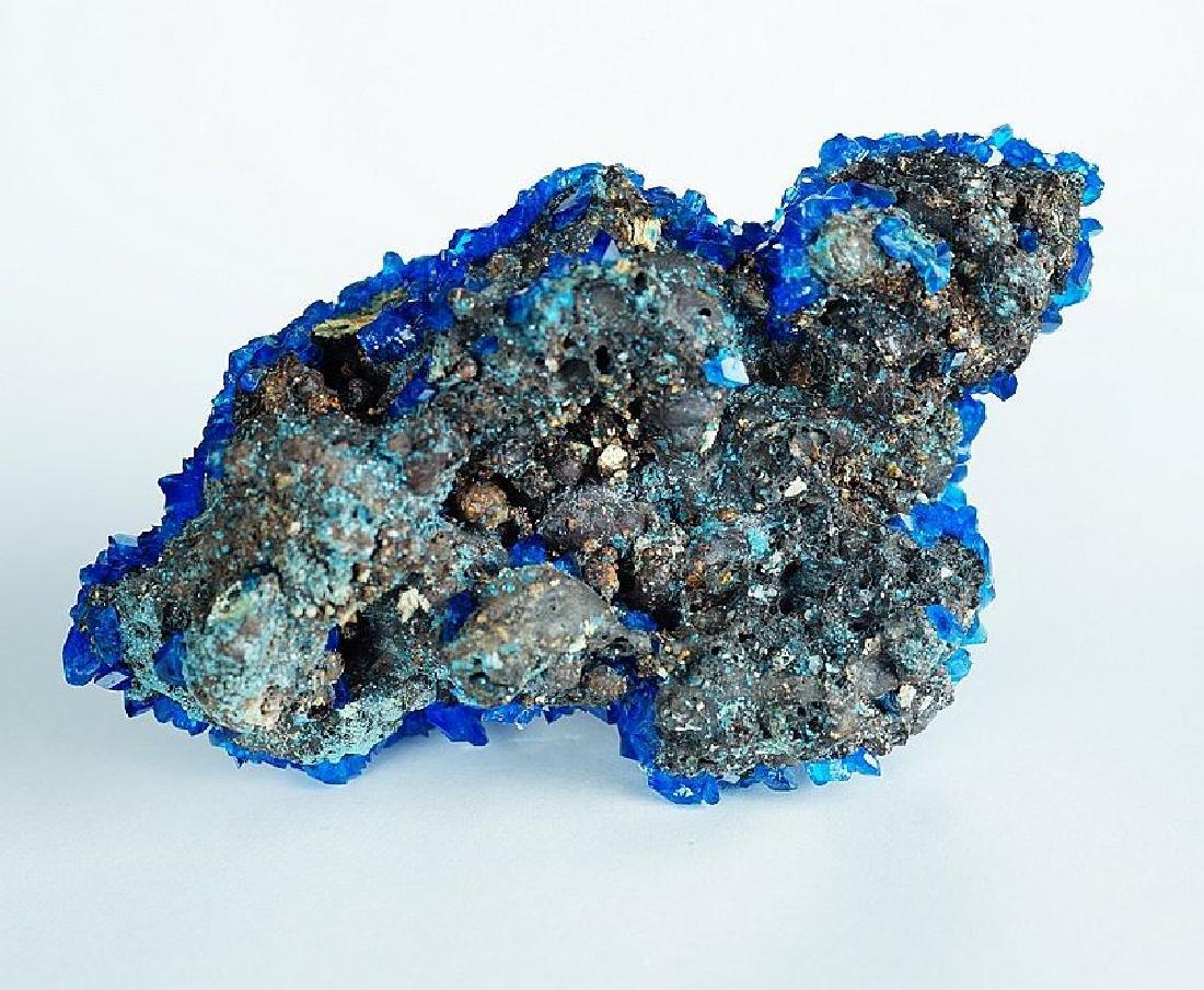 Chalcanthite Big Electric Blue cluster - lab grown - 5