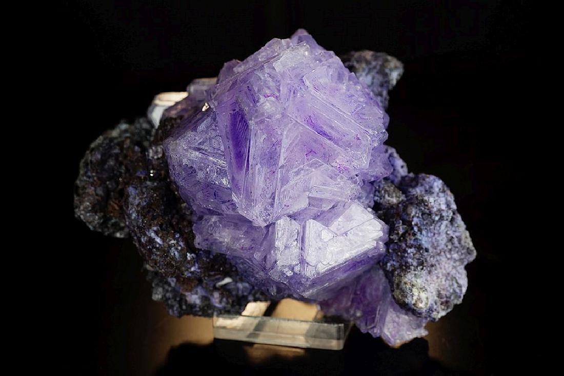 Alunite Big Purple amazing octahedron crystals on - 3