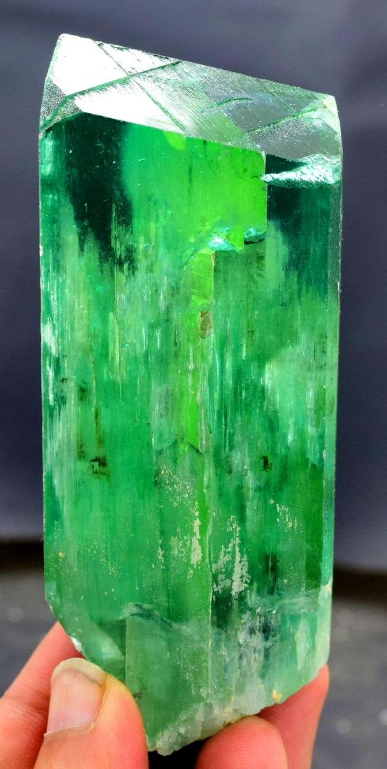 220 gram v shape terminated and undamaged lush green