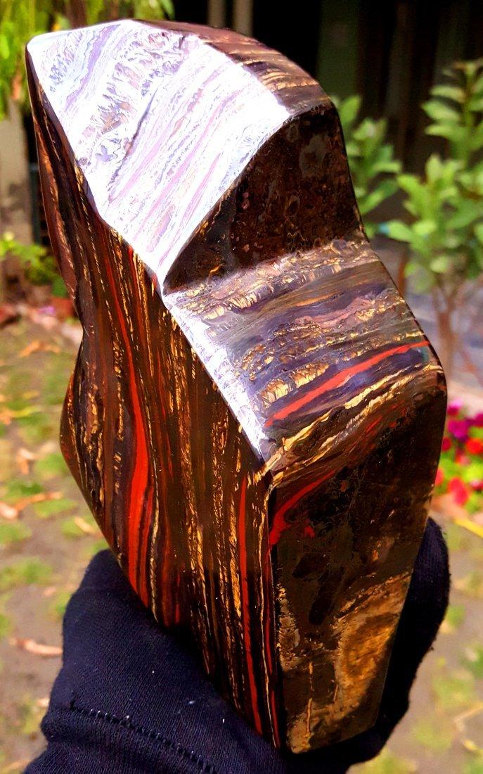 Free Form Multi Color Tiger Eye Self Standing Tumble - 2