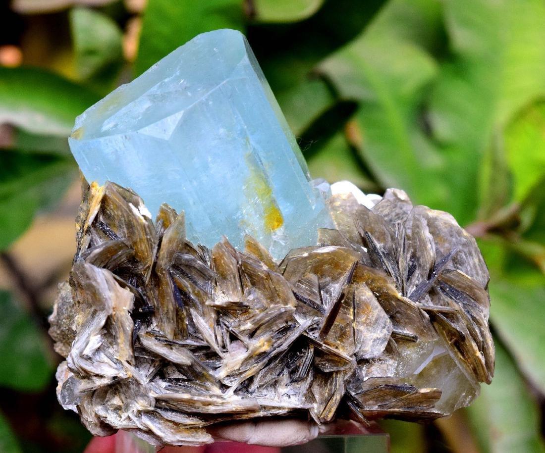 Damage Free and Aesthetic Natural Aquamarine Crystal - 5