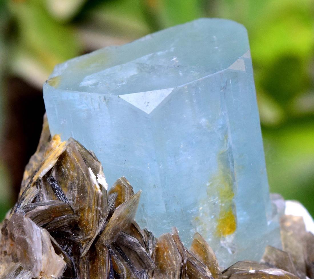 Damage Free and Aesthetic Natural Aquamarine Crystal - 7