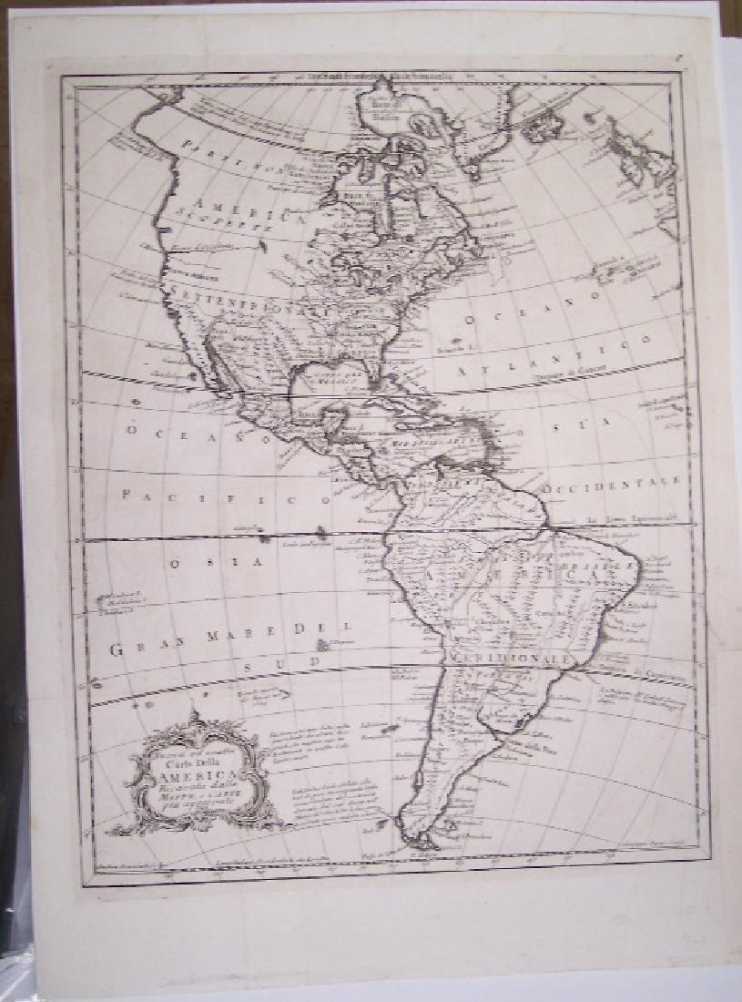 Nuova Ed Esatta Carta Dalle America Mappe E Carte Piu