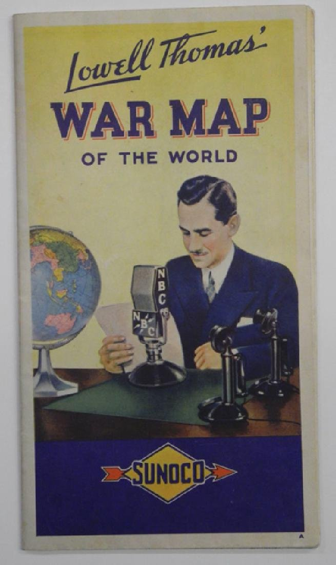 Sunoco Lowell Thomas' War Map of the World