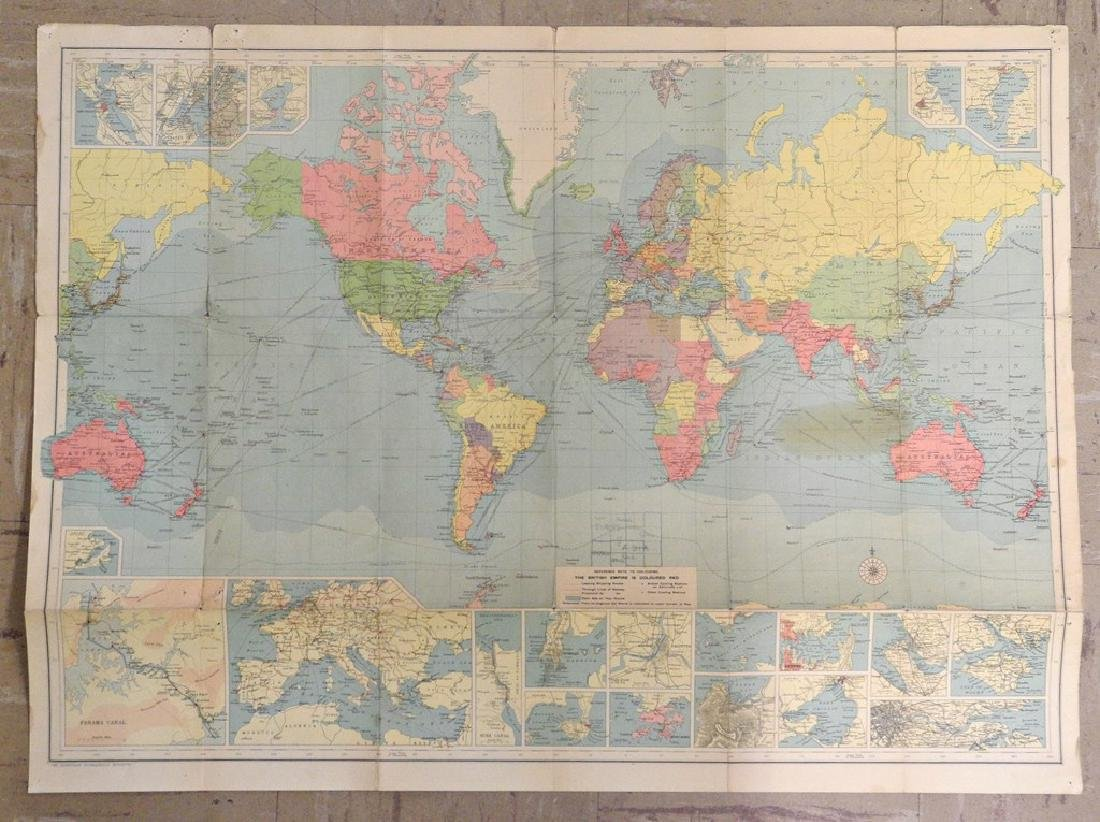 Untitled. [the World On Mercator's Projection] - 2