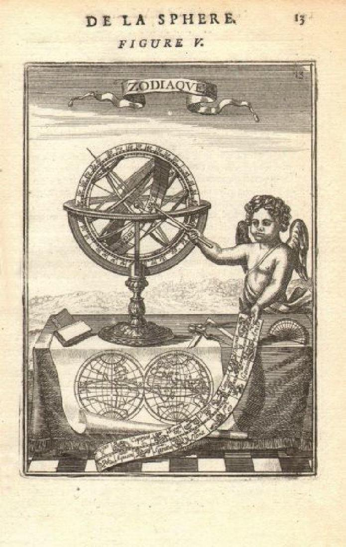 ARMILLARY SPHERE. 'Zodiaque'. Signs of the Zodiac