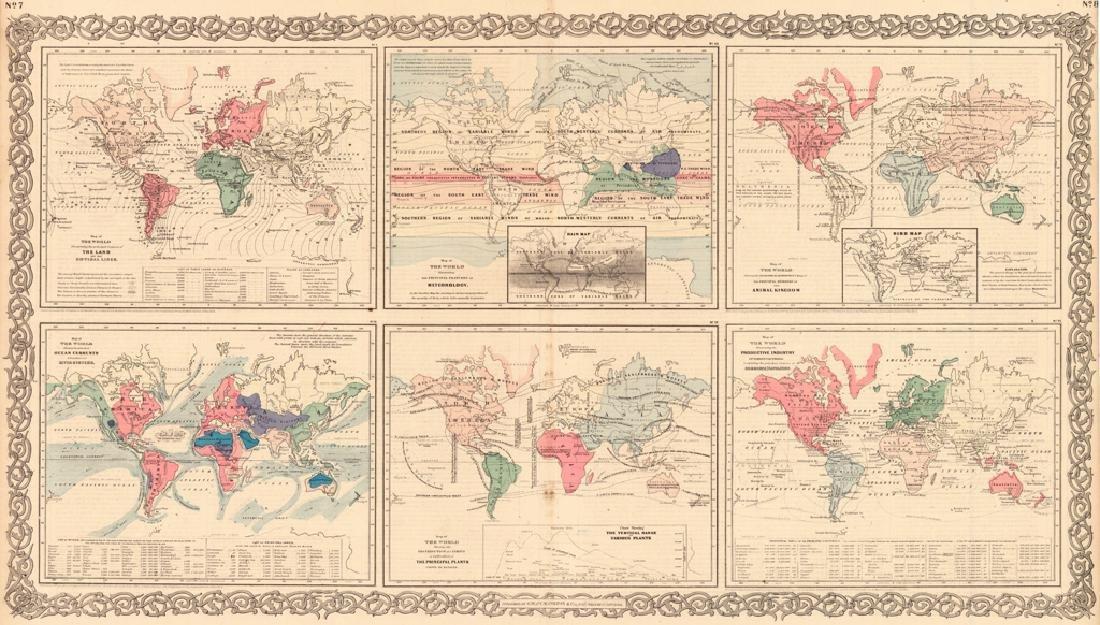 Six Physical World Maps