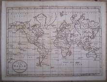 Chart of the World On Mercators Projection