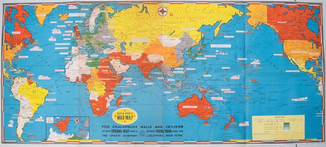 1942 Turner Dated Events War Map -- Dated Events War