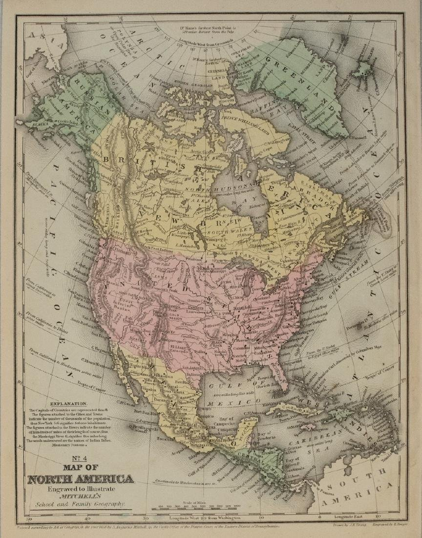 1858 Mitchell Map of North America -- No. 3 Map of
