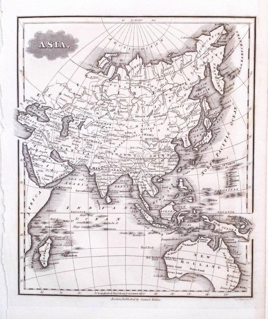 1834 Malte-Brun Map of Asia -- Asia