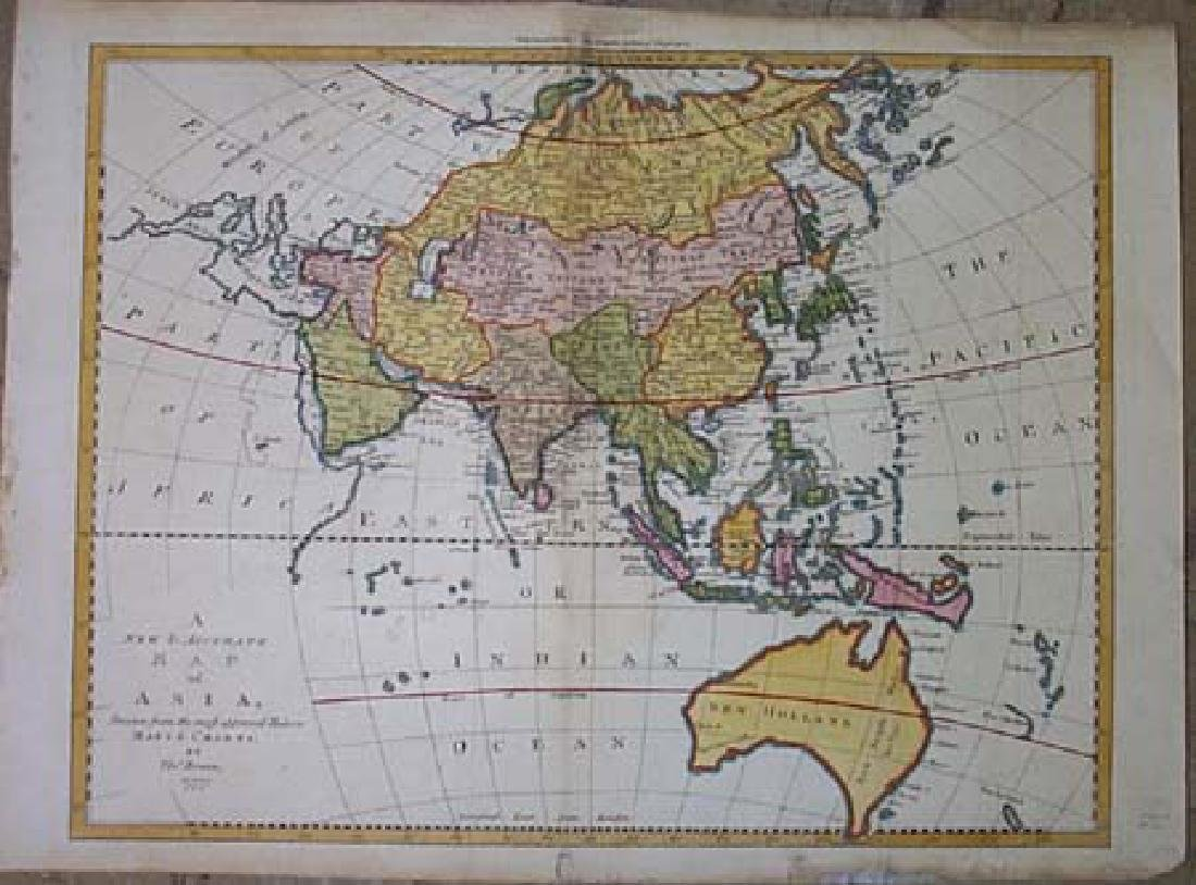 New & Accurate Map of Asia,