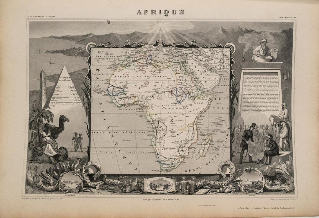 1852 Levasseur Map of Africa -- Afrique