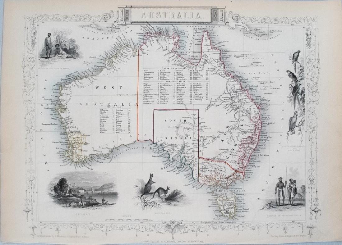 1850 Tallis Map of Australia -- Australia