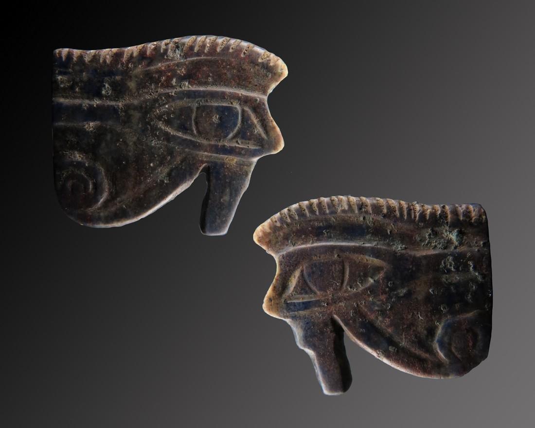 Egyptian Lapis Lazuli Wedjat Amulet