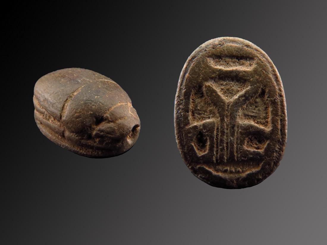 Egyptian Steatite Scarab