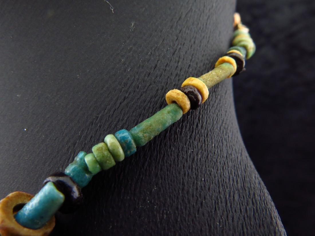 Necklace Made of Egyptian Faience Beads, Scarab and - 11