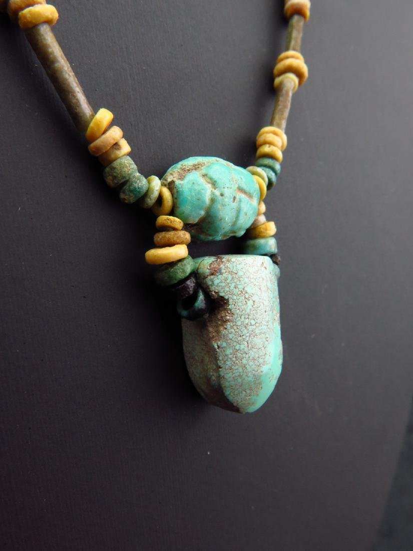 Necklace Made of Egyptian Faience Beads, Scarab and - 3