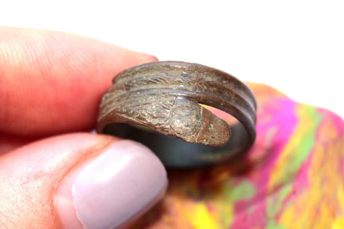 Late - Post Medieval Bronze Snake Ring